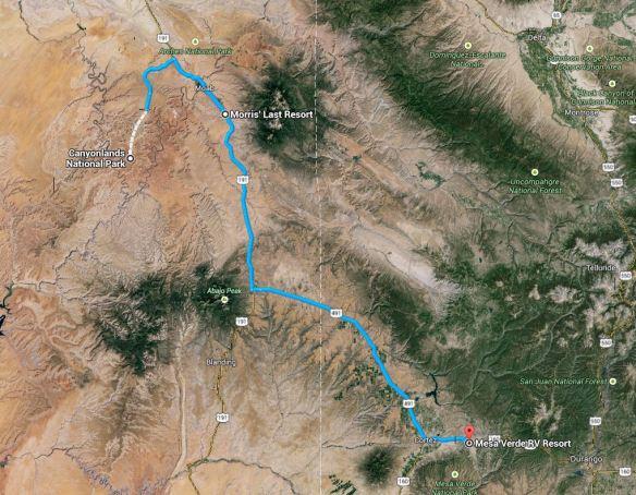 Route Tag 15: Moab - Mancos